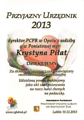 dyplom PCPR